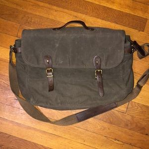 J Crew Abingdon Canvas & Leather Messenger Bag
